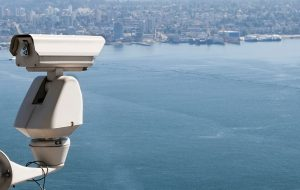 CCCTV video security surveillance camera placed outdoors